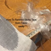 Remove Sticky Tape from Fabric Easily; How To