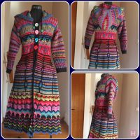 Winter Coat; Multi Color Crochet (CH0486)