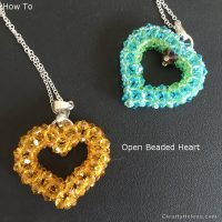 Open Beaded Heart - how to
