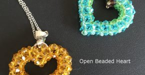 Open Beaded Heart – how to