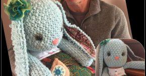 Peony Wabbit – large amigurumi bunny