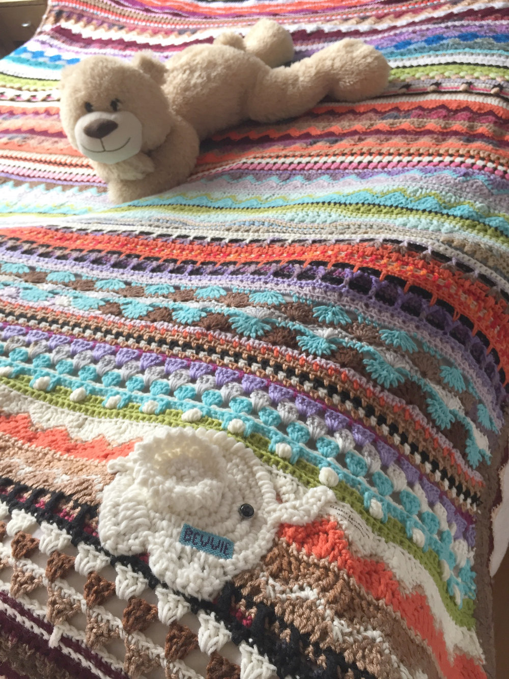 Crochet Afghan Blanket For Bev Ch0499 Clearlyhelena