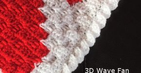 Edging – Wave Fan border How to Crochet