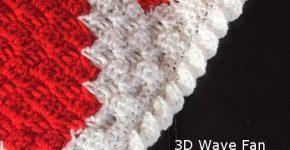 Edging – Wave Fan border How to Crochet