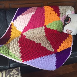 C2C Crochet Lap Blanket - abstract design (CH0508)