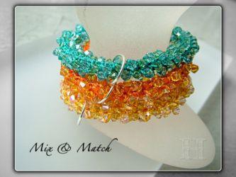Mix n Match Crochet Swarovski bangles - CH0296 (Sold)