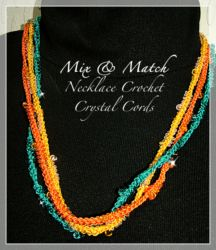 Beaded Finger Crochet Necklace (CH0296)