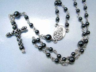 Handmade hematite rosary (CH0216)