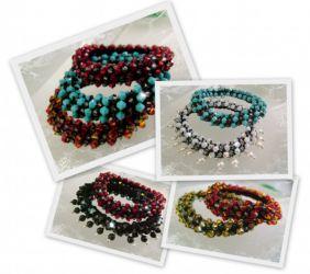 Swarovski Beaded Crochet Bracelets (CH0297a-f)