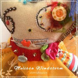 Mix Media Door Stop - Melissa Windstorm (CH0324)