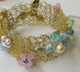 Wire Crochet Bracelet (cc0160)