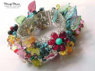 Wire Crochet Bracelet (CC0157)