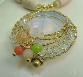 Wire Netting to Bezel Cabochon (CH0307)