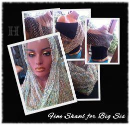 Crochet Shawl in Solomon's Knot (CH0330)