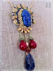 Art Deco Buddha Necklace (CH0334)