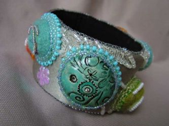 Felted Cabs Bangle (CC0078)