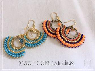 Art Deco Hoops Earrings (CH0336)