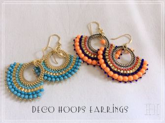 Art Deco Hoops Earrings (CH0336)
