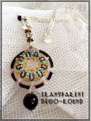 Transparent Deco-Round necklace (CH0337)