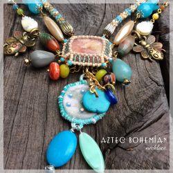 Aztec Bohemian necklace (CH0349)