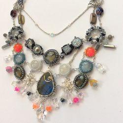 Labradorite & Friends Necklace (ch0346)