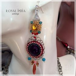 Royal India earrings (CH0348) - SOLD