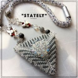 "Geometric Triangle ""Stately"" necklace (ch0360) - SOLD"