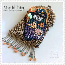 Moertel Fairy Purse - beaded picture crochet (CH0368)