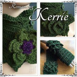 Romancing Kerrie Slade - neck warmer + fingerless gloves set (CH0371)