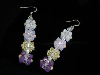 Colonne De Fleurs Sterling Silver Swarovski Earrings (CH099)