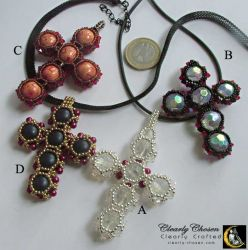 Collection of beaded handmade crosses (CCOO54)