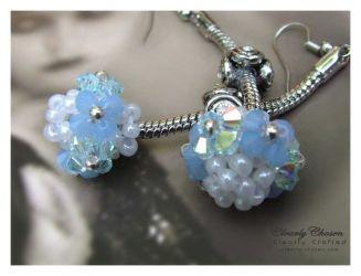 Pandora Dangle Earrings - Swarovski Blues (CC0104)