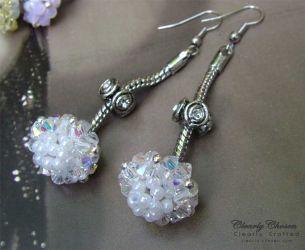 Pandora Dangle Earrings - Ice Maiden (CC0105)