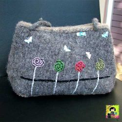 Summer Joy Bag - knitted/felted (CC0002)
