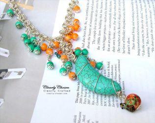 Tibetan Crescent necklace (CC0142) SOLD