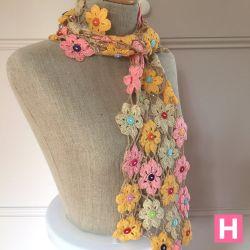 Crochet Flower Scarf (CH0383)