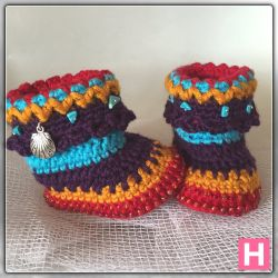 Bohemian Baby Booties (CH0388)