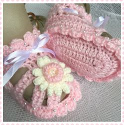 Pink Daisy Open Baby Sandals (CH0391A)
