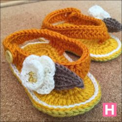 Flower & Leaf Open Toe Baby Sandals (CH0395D)