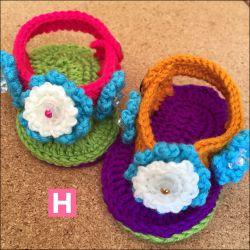 Colourful Daisies Open Toe Sandals (CH0395E)