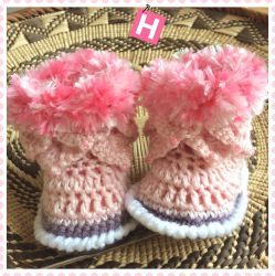 Pink Fluffy Baby Boots (CH0390)