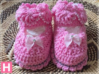 Pink Sparkly Baby Shoes (CH0385B)