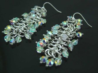 """Grapes of Glory"" Swarovski earrings (ch0146) - Sold"