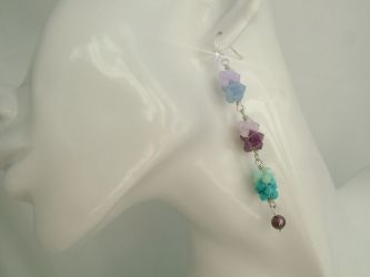 """Sweet Hippie"" dangle earrings in Swarovski Elements - CH0176 (Sold)"