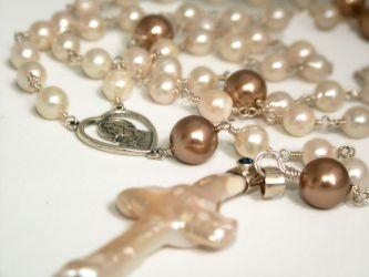 """Pearls of Wisdom"" - Akoya Pearls Handmade Rosary (ch0139) - N/A"