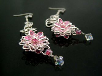"""Swarovski in Bloom"" earrings (CH0145) - SOLD"