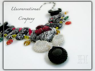 Unconventional Company Mix Media Necklace - CH0300 (Sold)