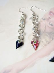 Wild Hearts Swarovski earrings (CH0154 - Sold)
