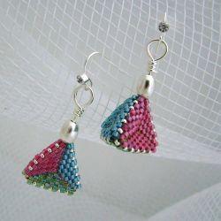 Bright Retro Triangles 3D earrings (CH0191 - N/A)