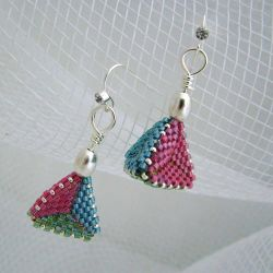 Bright Retro Triangles 3D earrings (CH0191 - N/A)
